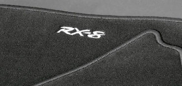 Black Luxury Mazda RX8 2008 Onwards Floor Mats FE47-V0-320