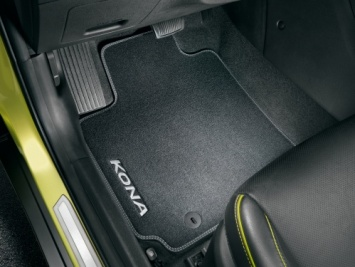 Hyundai Kona Velour Carpet Mats - Black  J9143ADE10