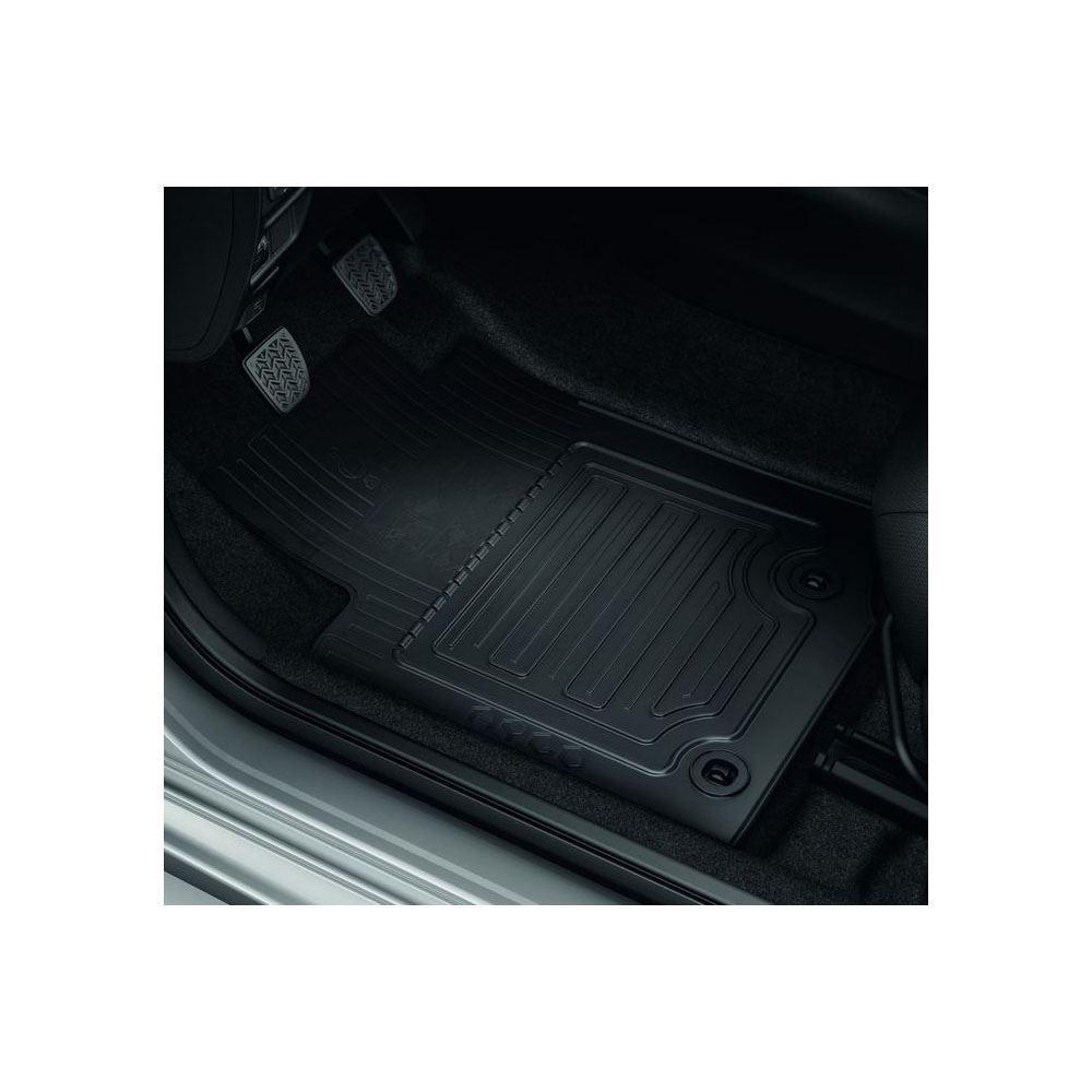 Genuine Toyota Aygo X 2014 2016 Black Carpet Mats Silver