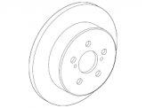 Genuine Toyota C-HR - Rear Brake Discs - 42431-78010