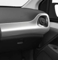 Genuine Toyota Aygo 2014 Onwards Passenger Side Dashboard RHD Silver White - 554750H080A1