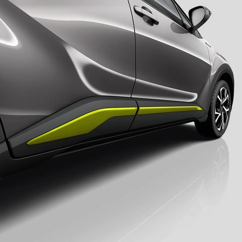 Genuine Toyota C-HR - Side sills - Lime Green-PW156-10000-GF