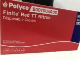 Genuine Polyco Bodyguards 400 Red Nitrile Powder Free Disposable Gloves Large