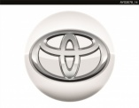 Genuine Toyota Aygo 2014 Onwards White Flash Centre Cap - PZ406986702E