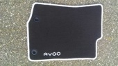 Genuine Toyota Aygo X 2014 Onwards Black Carpet Mats - White Flash - PZ41090356FN
