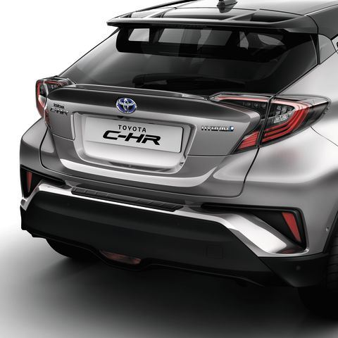 Genuine Toyota C-HR - Rear bumper protection plate - black unpainted -PW178-10000